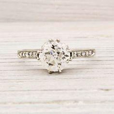 1.55 Carat Tiffany & Co. Antique Engagement Ring