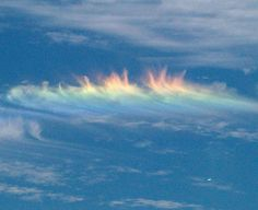 the meteorological phenomenon that Matthew Haskill witnessed Sunday Sept 9/12 at about 2:30 p.m. is known as a circumhorizontal arc, a rainbowlike formation caused by the sun hitting a cloud at a specific angle