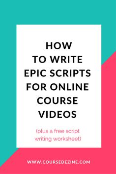 write-scripts-online-course-video
