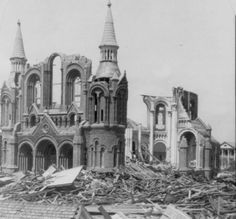 1900 Galveston Hurricane damage...I always think of the St. Mary's Orphanage and the nuns tying the wrists of the orphans together so they could stay close.. they all perished...Sacred Heart Church