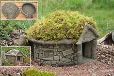 Hand Crafted Stone Garden Statues, Made in Devon uk by HiddenCorners Stone Garden Statues, Garden Stones, House Lift, Hedgehog House, Fairy Village, Devon Uk, Stone Houses, Garden Ornaments, Fairy Houses