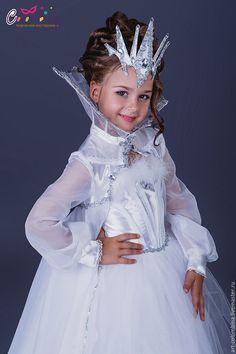 Купить Костюм снежной королевы - белый, королева, костюм королевы, снежная королева