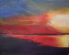 Sunset, 80 x 100 cm, Öl auf Lw, www. Grim Fairy Tales, Sunset Art, Red Riding Hood, Abstract Landscape, Artsy Fartsy, Saatchi Art, Sunrise, Original Paintings, Art Prints