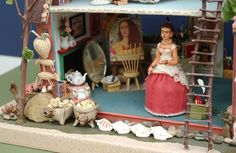 downstairs frida kahlo dollhouse