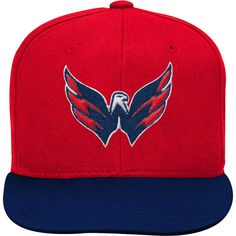 f63456608 Youth Washington Capitals Red Navy Two-Tone Flatbrim Snapback Adjustable  Hat