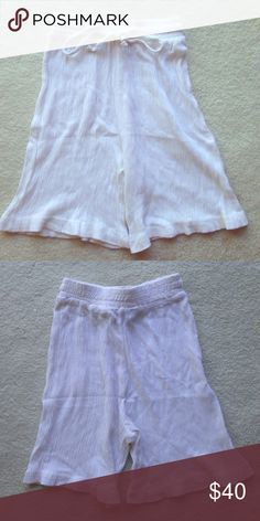 White Rayon Shorts These white shorts are great for summer as they are light and airy! I would wear these to lounge around the house or when doing casual summer stuff. Would be nice for vacation. They are all rayon but the tag says dry clean only. I will not dry clean before shipping. Offers welcome. Toto n Ko Shorts