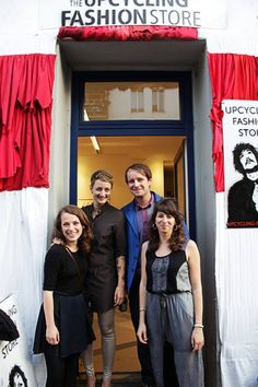 The Team of the Upcycling Fashion Store. Picture by Marina Chahboune