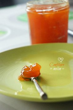 Melon jam with lemon (recipe in french) Jam And Jelly, Lemon Recipes, Canning Recipes, Food Photo, Orange, Biscotti, Food And Drink, Homemade, Cooking