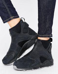 quality design a0aae 04339 Nike Air Huarache Run Premium Mid Trainers Sorte Sneakers, Sneakers Nike,  Nikesko, Asos