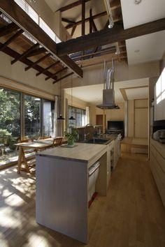 大庭建築設計事務所 の モダンな ダイニング キッチン、ダイニング