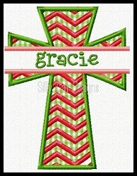 Split Cross Chevron Applique - 3 Sizes! | What's New | Machine Embroidery Designs | SWAKembroidery.com Silly Cat Designs