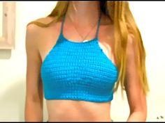 crochet halter crop top tutorial - YouTube