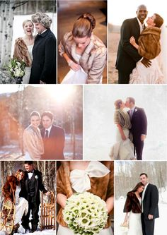 #fur stoles and coats at winter wedding... Wedding ideas for brides, grooms, parents & planners ... https://itunes.apple.com/us/app/the-gold-wedding-planner/id498112599?ls=1=8 … plus how to organise an entire wedding ♥ The Gold Wedding Planner iPhone App ♥