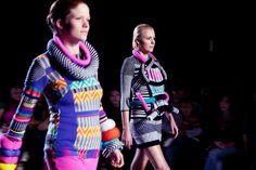 Défilé du 15 Juin 2011 | Atelier Chardon Savard #frenchdesigner #knit #knitwear #hairaccessories #accessories #fashion #maille #accesorios #madeinfrance #handmade #uniquegift #faitmain #accessoirescheveux #moda #maglia #graphic #blackandwhite #jacquard