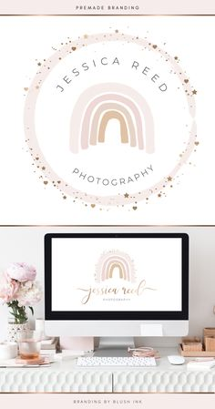 Boutique Logo, Baby Boutique, Branding Kit, Branding Design, Business For Kids, Creative Business, Rainbow Logo, Photography Logo Design, Shop Logo