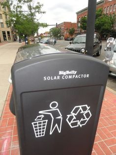 Solar Powered Recycling Bins