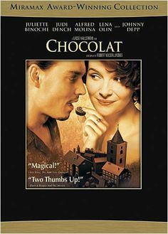 Decadent, Sultry fascinating movie about Chocolate and it's POWER lol - Johnny Depp, Juliette Binoche, Carrie-Ann Moss, Alfred Molina,  Judi Dench, Leslie Caron and Lena Olin