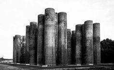 """Biotürme, (decontamination towers ;GDR-heavy industry.) Lauchhammer coking plant, Lauchhammer,…"""
