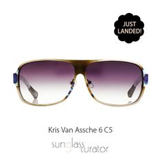 Have you seen the new #Kris Van #Assche silver #aviator #sunglasses, with a d-frame and grey gradient #lenses? They are the perfect mix of masculinity and #minimalism, plus they are great for any type of face! Available at #SunglassCurator.com