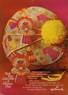 Vintage Hallmark Christmas gift wrap, 1968