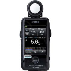 Sekonic L-478DR (L-478DR) LITEMASTER PRO Touch Screen Digital Exposure Meter for Ambient and Flash Light