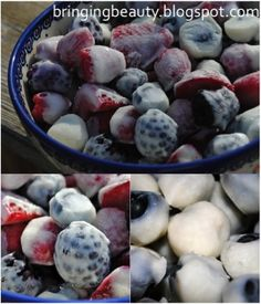 Frozen yogurt berries for a summer snack