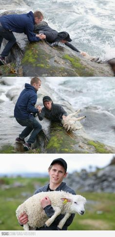 This is precious :) reminds me of Jesus as our Shepard, rescuing us from death. GAAAHHH!! <3