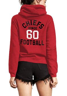 fc4ef6f3e Junk Food Clothing Kansas City Chiefs Womens Red Sunday Hooded Sweatshirt -  11200289