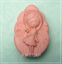 Sunny girl Craft Art Silicone Soap mold Craft Molds DIY Handmade soap molds(China (Mainland))