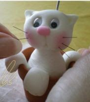 The New Clay News: Make a Cute Kitten in a Flower Pot