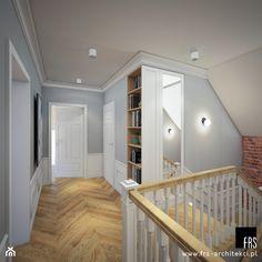 Dom w Tomaszowicach - Hol / przedpokój, styl klasyczny - zdjęcie od FRS ARCHITEKCI - homebook Stairs, Dom, Home Decor, Furniture, Design, Ladders, Homemade Home Decor, Ladder, Staircases