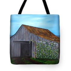 SWEET PEAS Tote Bag for sale by T Fry-Green. $26.00 The tote bag is machine washable, available in three different sizes, and includes a black strap for easy carrying on your shoulder. All totes are available for worldwide shipping and include a money-back guarantee. #sweetpeas #peas #barn #roof #farm #farmlife #peas  #fashionbag #tfrygreenart #tfrygreen #homeatlaststudio #art #original #tote #toteart #fineartamerica