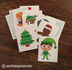 Christmas Song Cards Printable - Christmas happy and you know it - could also print twice for a matching game