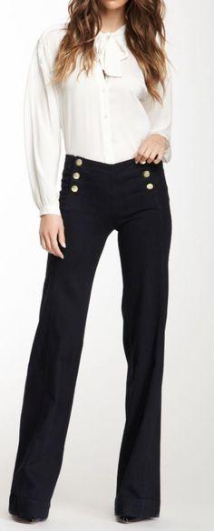 Sailor wide leg trousers