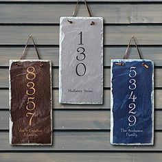 For the hallway | House Number Personalized Slate Address Plaque - 7105