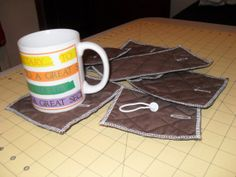 Mug rugs for hanging with your mug collection by MsMartyD on Etsy, $20.00