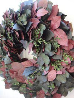 Autumn Splendor Preserved Wreath Lemon Leaf by donnahubbard, $75.00