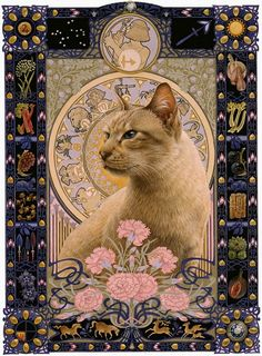 Lesley Anne Ivory cat. Just gorgeous.