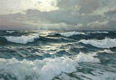 Frederick Judd Waugh (1861-1940). The Open Sea. Oil on masonite. 22¾ x 32½ in. (57.8 x 82.6 cm.)