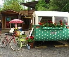 I like the idea of polka dots like this. Vintage camper