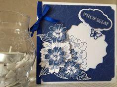 Mijn creatie 26 - Bloemenkaart blauw