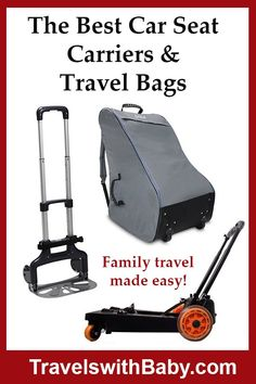 The best baby and toddler car seat carriers, travel bags, and car seat strollers. Car Seat Travel Bag, Toddler Car Seat, Best Carry On Luggage, Best Car Seats, Flying With Kids, Travel Toys, Traveling With Baby, Travel Essentials, Family Travel