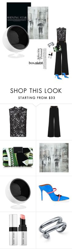 """""""In with the new: box clutch"""" by cheetakat12 ❤ liked on Polyvore featuring Yves Saint Laurent, STELLA McCARTNEY, Emilio Pucci, Leftbank Art, Malone Souliers, Bobbi Brown Cosmetics, Elsa Peretti, women's clothing, women's fashion and women"""