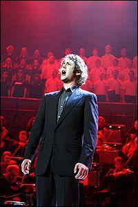 Josh Groban sings Anthem in Chess in Concert, Royal Albert Hall, London.