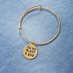 Too ham to give a damn bangle inspired by hamilton broadway musical