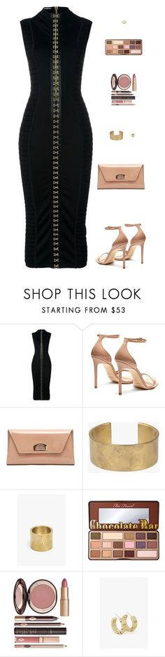 Sin título #4698 by mdmsb on Polyvore featuring moda, Balmain, Yves Saint Laurent, Christian Louboutin, Marmol Radziner, Too Faced Cosmetics y Charlotte Tilbury