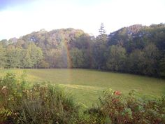 in a double rainbow in wales, uk... do you see the horse on the right hand side?