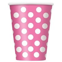 Order Hot Pink Dots Cups plus other party supplies and themed tableware. We offer the popular party supplies and accessories, all available for cheap wholesale prices! Peppa Pig Party Supplies, Paw Patrol Party Supplies, Paper Fan Decorations, Mini Balloons, Polka Dot Party, Party Cups, Party Drinks, Pink Polka Dots, Felicia