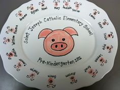 """HTL - Wish I had seen this when the girls were younger.  (Could probably DIY with Sharpies and baking in oven.)  """"If you Give a Pig a Pancake"""" pancake platter-what a great idea for the teacher or a family who had this book."""