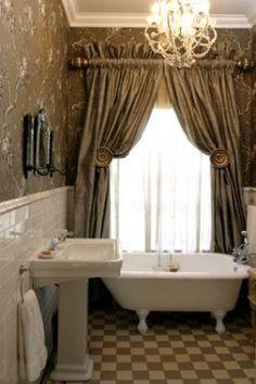 Like the big hooks Bathroom curtains